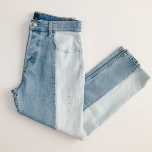 GAP two toned high rise skinny ankle jeans - sz 29